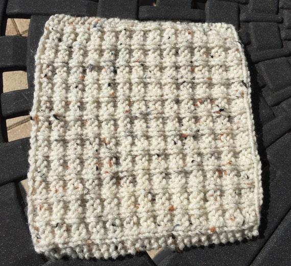 Waffle Knitting Pattern Dishcloth : Knit Dishcloth Waffle Pattern by BuzzingNeon on Etsy