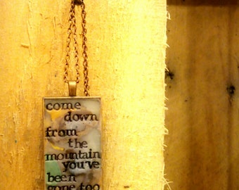 Fleet Foxes Ragged Wood Pendant Necklace