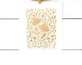 Linocut Print, Scandinavian Art, Flower Art Print, Botanical Art, Original Art, Floral Art, Lino Print, Floral Art, Scandinavian Art