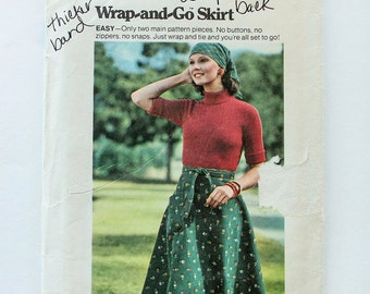 1970s Vintage Sewing Pattern - Butterick 3768 - Wrap Skirt