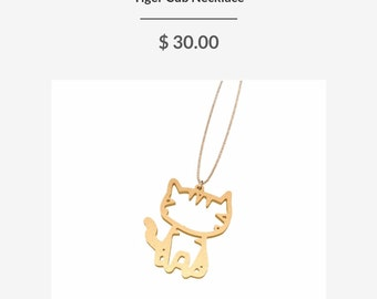 Tiger Cub Necklace