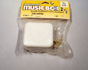 Key Wound Music Box Edelweiss Wind Up New In Package