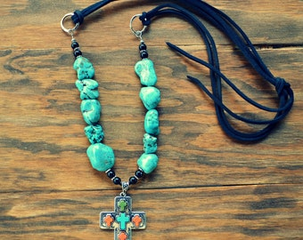 Cross Turquoise Necklace