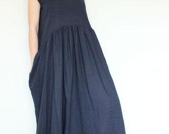 Linen Dress, Blue Linen Dress, Summer linen dress, Loose fit dress, One size linen tunic, Every day dress, Plus size dress, Linen kimono