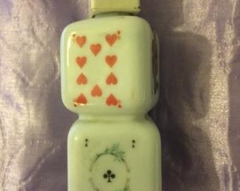Novelty 1960,s Cherry Brandy playing card design miniature bottle