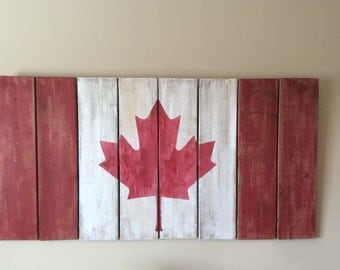 Canadian Flag-Reclaimed wood