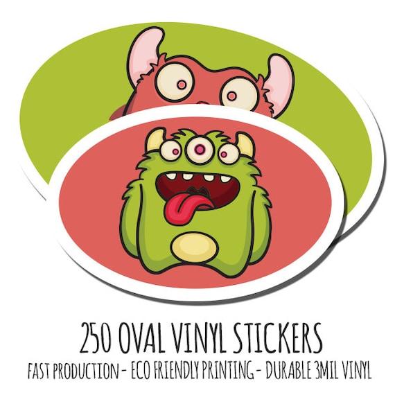 Bulk Custom Vinyl Stickers  Custom Stickers Vinyl Oval - Custom vinyl decals bulk