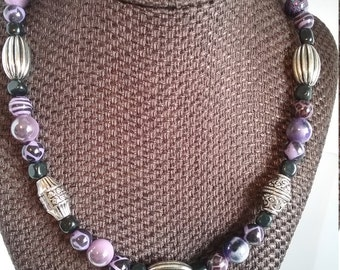 A Beautiful and One of a Kind Necklace and With Matching Earrings