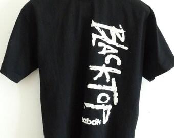 REEBOK mens t-shirt BlackTop mens backetball tshirt thick cotton black athletic t-shirt vintage 1990s mens size XL