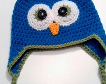 Crochet Owl Hat - Toddler Size