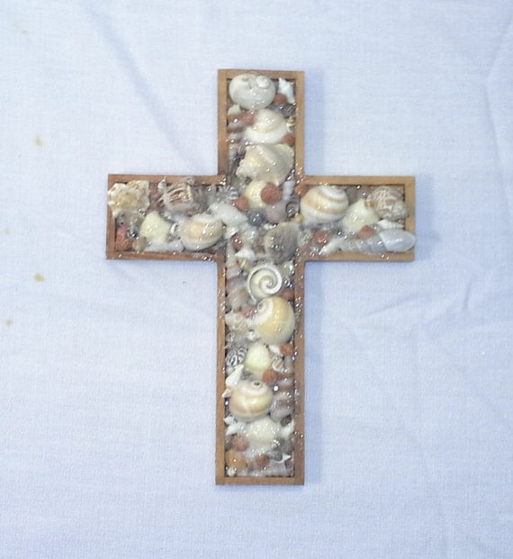 Beach Wedding Altar Decorations: Shell Cross Beach Wedding Altar Beach Decor Ocean Decor