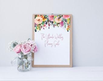 Wedding Planner Printable, DIY Wedding Planner