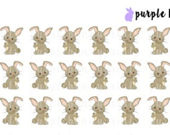 Brown Bunnies // Daisy // Planner Stickers!