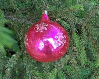 Vintage snowflake ornaments Vintage christmas Ornament Christmas Tree Ball rare xmas soviet ornament christmas holiday snowflake home decor