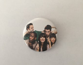 New Girl Pinback Button