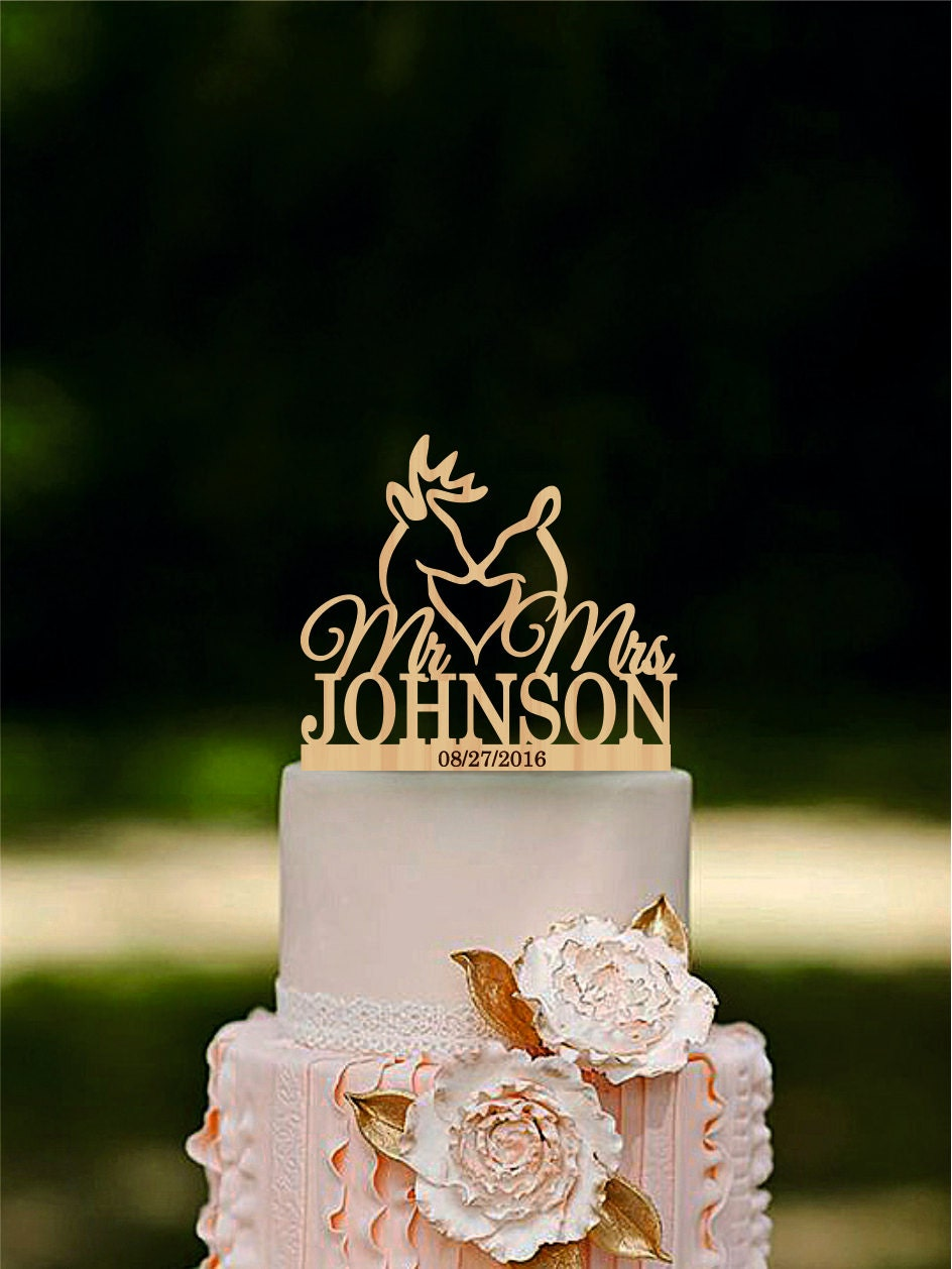 Deer Wedding Cake Topper The Hunt Is Over Cake Topper Last