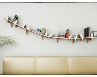 Hanging Pictures On Wire floating shelves hanging bookshelf bookshelves wall shelf