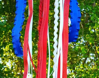 Patriotic dreamcatcher, dream catcher, Fourth of July decoration, beach house decoration, Independence Day, dream catcher, memorial day