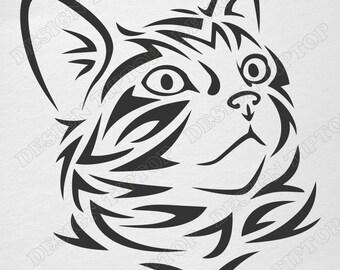 CAT SVG File, Kitten Svg, Png, Eps, Cat Clipart, Cat Vector, Kitty SVG, Cricut Design, Cat Silhouette Studio, Svg Cut Files