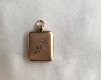 Gold filled pocket watch fob. #652