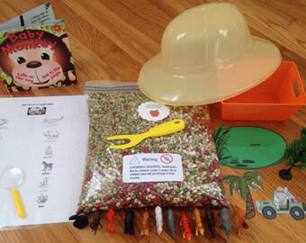 Sensory Bin for Children- Jungle Safari