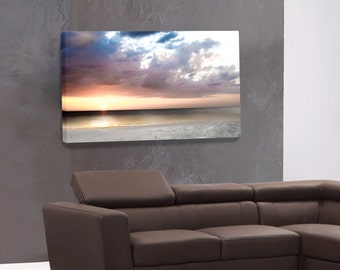 Sunset Photography Print, Canvas Gallery Wrap, Wall Decoration, Nature Photography,Landscape Photography, Canvas Art Print