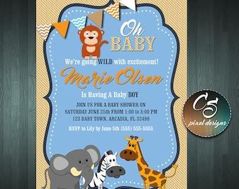 BABY SHOWER INVITATION - Boy Invitation