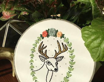 Oh Deer! Hand embroidery