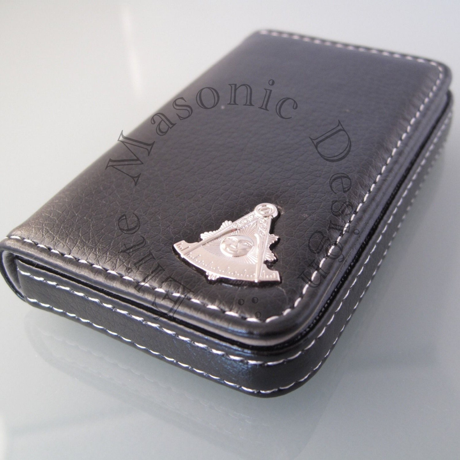 Masonic Past Master Business Card or Dues Card Holder
