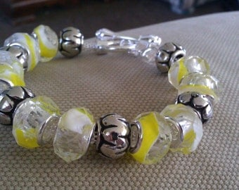 lemon yellow bracelet