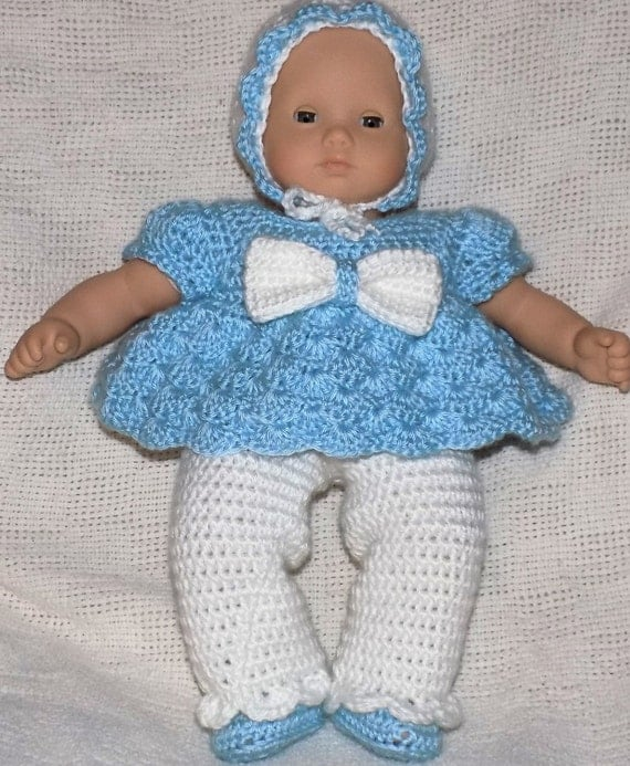 Crochet Baby Outfit Pattern : American Doll Bitty Baby Outfit Crochet Pattern PDF
