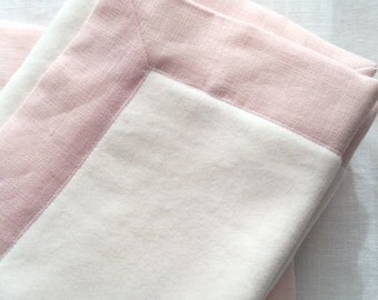 Baby blanket in organic cotton and linen