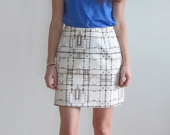 Print Skirt, A Line Skirt,