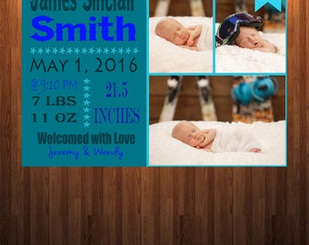 Newborn Annoucement, New Baby Annoucement, Baby Girl Annoucement, Birth Annoucement, Baby Boy Annoucement
