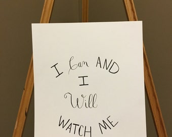 I Can And I Will - Sayings and Quotes Wall Art