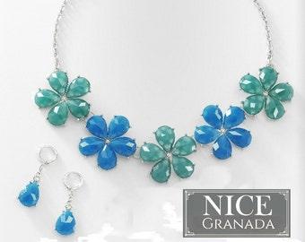 Flower necklace fine jewelry