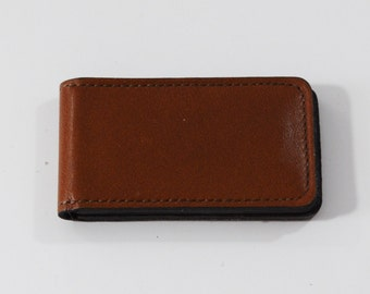 Vintage, Leather Magnetic Money Clip