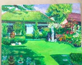 Green Garden original painting
