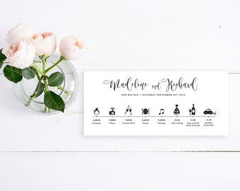 wedding timeline printable wedding timeline day of itinerary wedding schedule of events