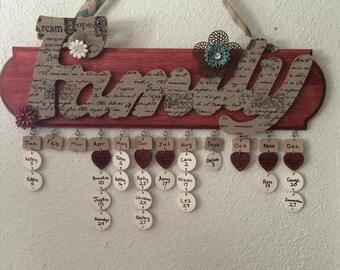 Family Calendar Board