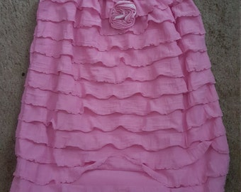 12M Pink Ruffle Dress