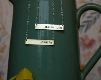 Brass Bar necklace - can be personalised