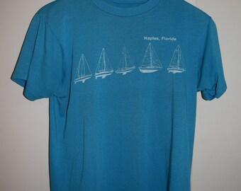 Vintage Naples, Florida Sailboat T-Shirt