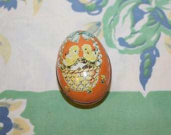 Tin Egg Candy Container, Murray-Allen, 1950s/60s