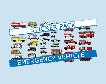 Emergency Vehicle Sticker Pack