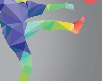 Olympic Soccer, Rio  2016, Olympic Poster, Rio Olympic Games, Rio2016 Poster Print