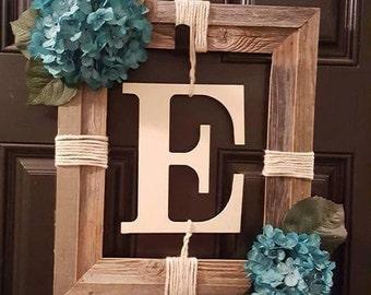 Rustic Wreath w/ Letter