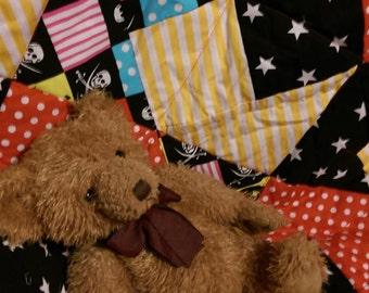 Baby Boys Handmade Quilt - Alter Ego Pirate Quilt, 84cm x 106cm