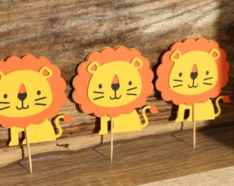 Critter birthday party package-lion