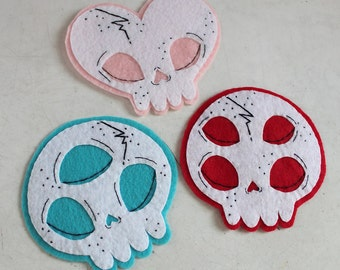 Handsewn Skull Patches